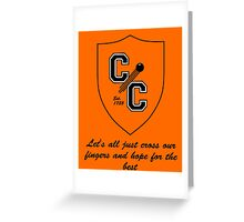 Chudley Cannons Logo with Motto Greeting Card