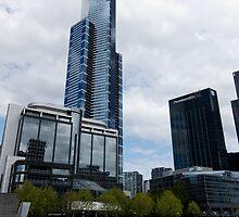 Southbank Melbourne Landmarks - Australia by Norman Repacholi