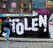 Stolen graffiti - Melbourne Australia by Norman Repacholi