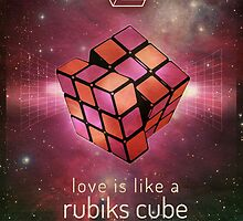 Retr Rubiks cube poster by Leannenicola