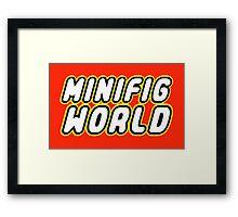 MINIFIG WORLD Framed Print