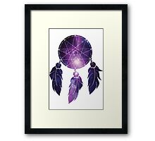 Catch all the dreams in your galaxy Framed Print