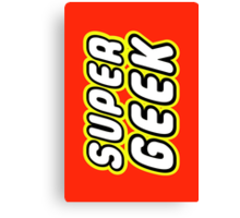 SUPER GEEK Canvas Print