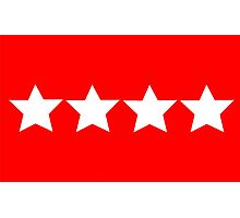 US Army General - Rank Flag Photographic Print