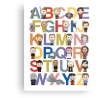 Through the Wormhole Alphabet Metal Print