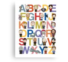 Through the Wormhole Alphabet Canvas Print