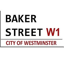 Baker Street Sign Photographic Print