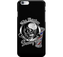 Barber Skull 1 with Pole: Shaving Face iPhone Case/Skin