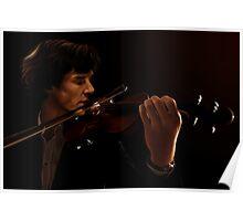 Sherlock and his Violin Poster