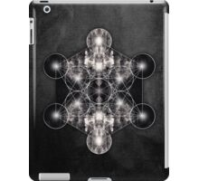 Metatron's Cube grey iPad Case/Skin