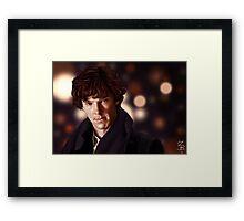 Sherlock Portrait Framed Print