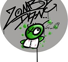 zombie graffiti logo by zombiedan