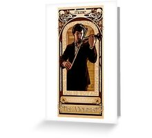 Art Nouveau Sherlock: The Violinist Greeting Card