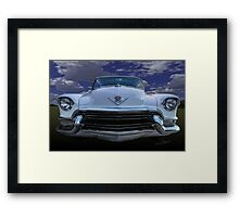 55 Cadillac Down Inna Meadow Up In Kerrville Framed Print