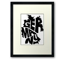 Germany Black Framed Print