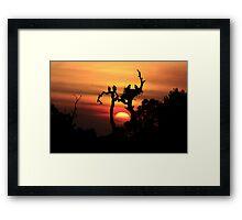 AWSOME EAGLE TREE SUNSET Framed Print