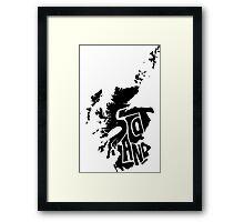 Scotland Black Framed Print