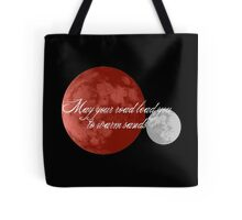 May Your Road Lead You to Warm Sands Tote Bag