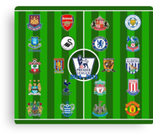 EPL~English Premier League 2014~2015 Canvas Print