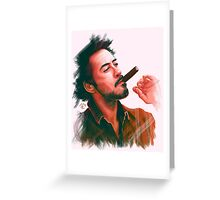 Robert Downey Jr. with cigar, digital painting  Greeting Card