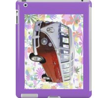 VW 21 window Mini Bus And Hippie Background iPad Case/Skin