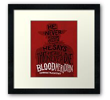 Blood Meridian Art Print Framed Print