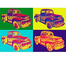 Colorful 1951 Ford F-1 Pickup Truck Pop Art  Photographic Print