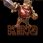 Barbarian King from Clash of Clans by Potatrice