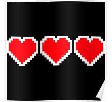 Pixel Hearts Poster