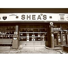 Route 66 - Shea's Filling Station Photographic Print