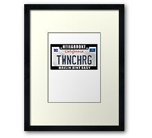 License Plate w/ Frame - TWINCHARGED Framed Print