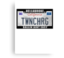 License Plate w/ Frame - TWINCHARGED Canvas Print