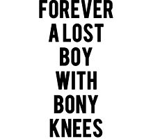 Forever A Lost Boy With Bony Knees by arabellaspace