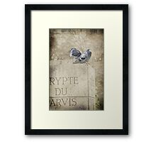 Guardians of the Crypt - Paris - France Framed Print