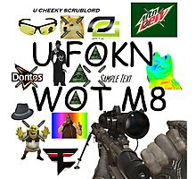 U FOKN WOT M8 MLG Montage Parody Photographic Print