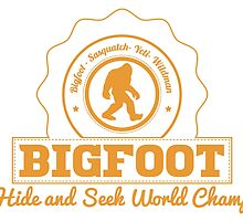 Orange Bigfoot Hide And Seek World Champ by kwg2200