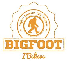 Orange Bigfoot I Believe by kwg2200