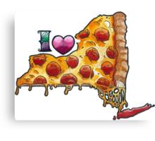 I Love NY Pizza Canvas Print