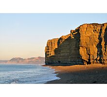Sunrise on Burton Cliffs - Dorset, UK Photographic Print