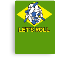 Brazilian jiu-jitsu (BJJ) Let's roll Canvas Print