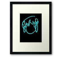 Scott Pilgrim VS the World - Have you seen a girl with hair like this...Ramona Flowers BLUE Framed Print