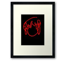 Scott Pilgrim VS the World - Have You Seen A Girl With hair Like This...Ramona Flowers RED Framed Print