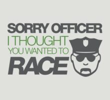 Sorry officer i thought you wanted to race (4) by PlanDesigner