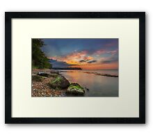 Fishbourne Beach Sunset Framed Print