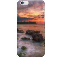 Rocky Beach Sunset iPhone Case/Skin