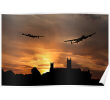 Lincolnshire Lancasters  Poster