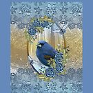 Twin Duvet Bluebird Ice And Lace Effect by Moonlake