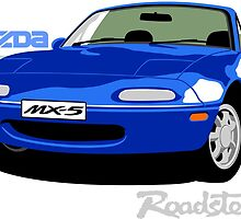 Mazda MX-5 blue by car2oonz