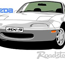 Mazda MX-5 white by car2oonz