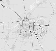 Plovdiv, Bulgaria Map. (Black on white) by Graphical-Maps